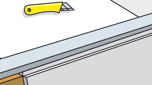 Zuschneiden der Gipsplatten