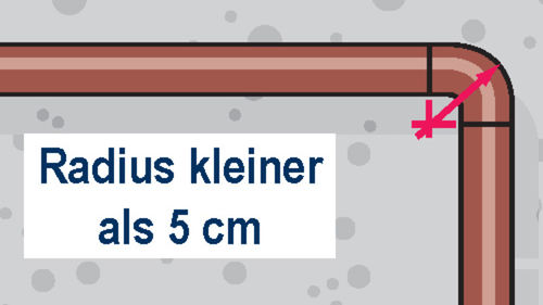 Rohrbogen mit max. 5 cm Radius