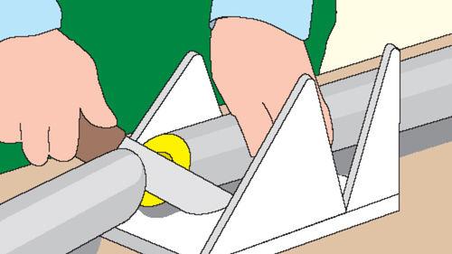 Rohrschalen-Bearbeitung mit Messer und Gerungslade