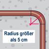 Rohrbogen über 5 cm Radius