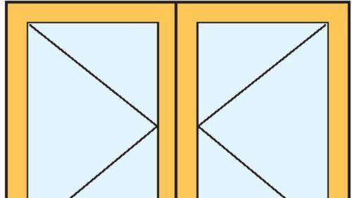 Drehfenster, zweiflügelig