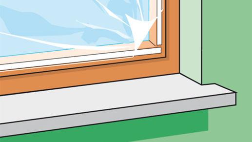 Fensterabdichtung mit Fenster-Folie