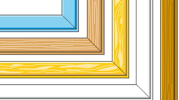 Fensterrahmen aus unterschiedlichen Materialien