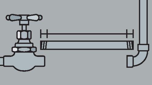 Berechnen der Gesamtrohrlänge