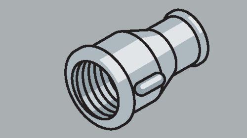 Stahlrohr-Fitting Reduziermuffe
