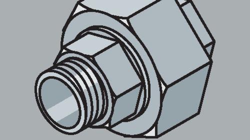 Stahlrohr-Fitting Verschraubung mit Außenwinde
