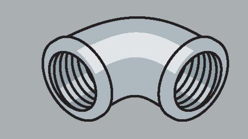 Stahlrohr-Fitting 90° Winkel