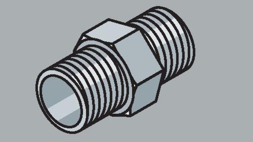 Stahlrohr-Fitting Gewindenippel
