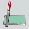 Begradigung unschöner Schnittkanten mit einer Hartmetallfeile