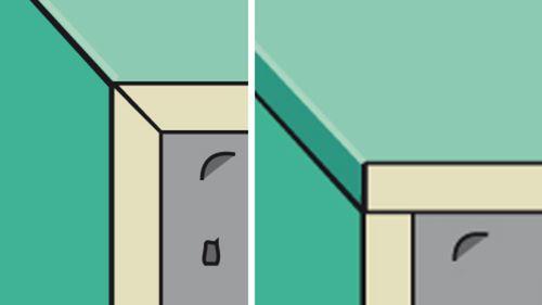 Fließenkanten abgeschrägt oder glasiert