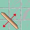 Schräg zur Fugenrichtung Fugenmörtel auftragen