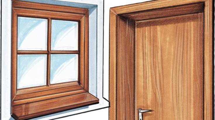Holzfenster und Holzetür