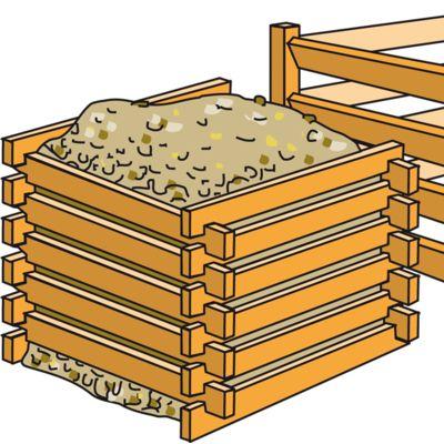 Holzkompostsilo