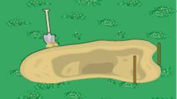 Grube mit Sandschicht belegen