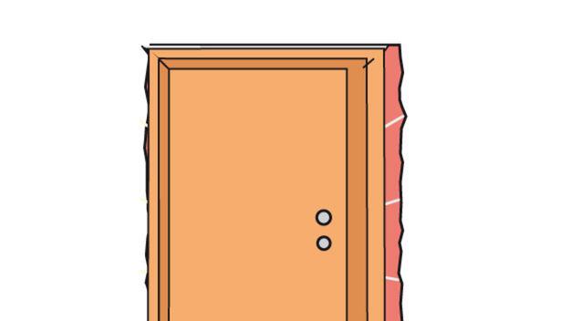 Türblatt einhängen und Funktion prüfen