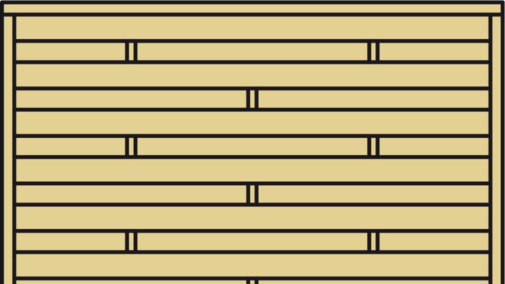 Holz-Lamellenzaun