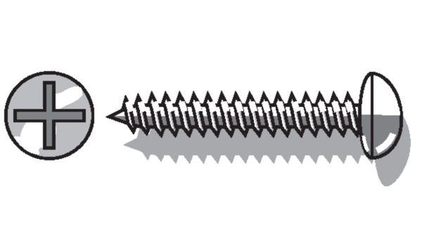 Linsenkopf-Blechschraube