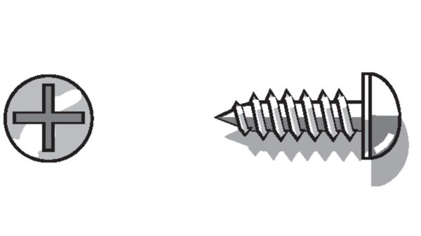 Kurze Linsenkopf-Blechschraube