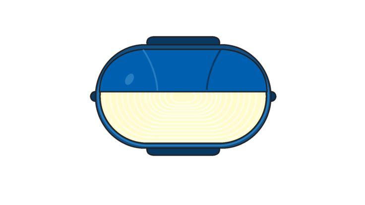 Wandleuchte Oval