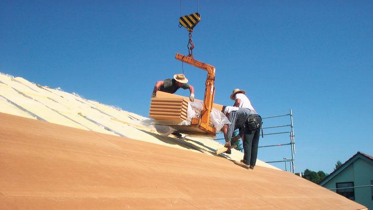 Dachbau mit Konstruktionsholz