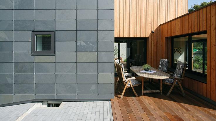 Hausbereich mit Holzfassade