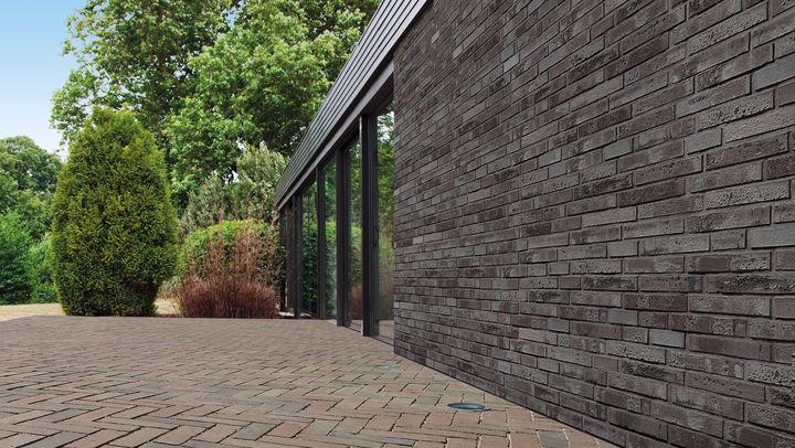 Außenfassade in Mauerwerkoptik
