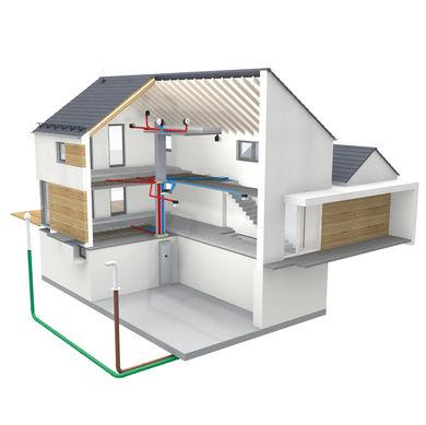 Haus mit optimalen Belueftungssystem