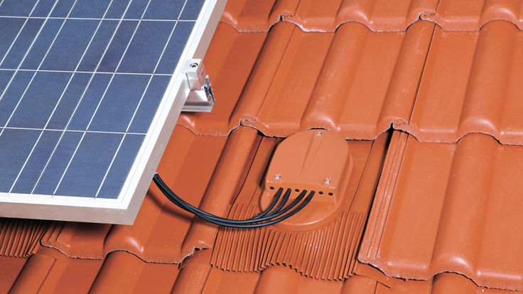 Kabelanschluss der Solaranlage