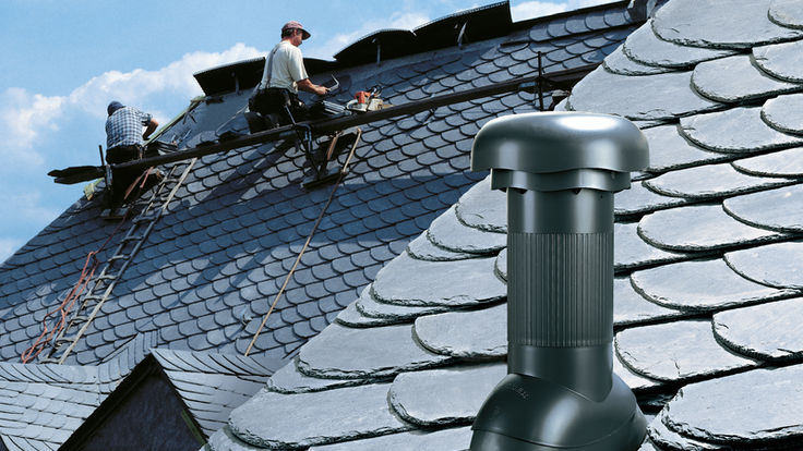 Rohrdurchfuehrung am Dach