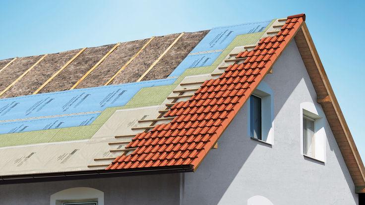 Befestigungssystem bei der Dachdeckung