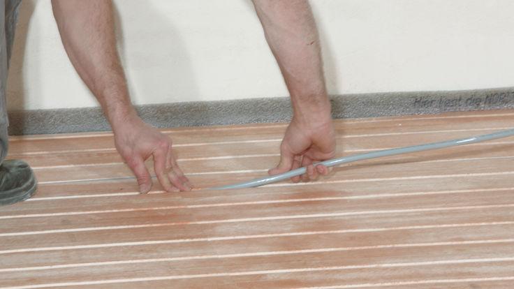 Kabelverlegung im Fußboden
