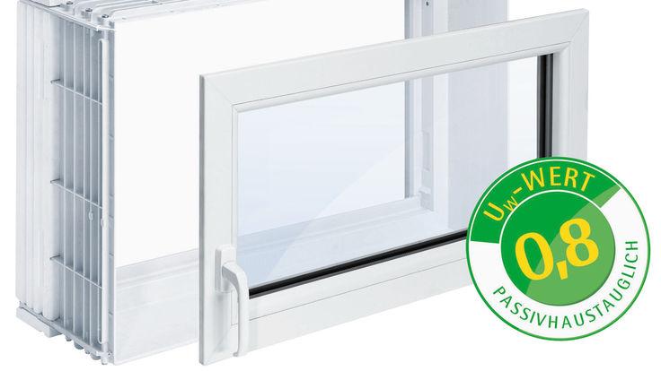 Kellerfenster mit Wärmedurchgangskoeffizient von 0,8