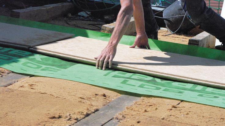 Verlegung der Holzfaser-Dämmplatten