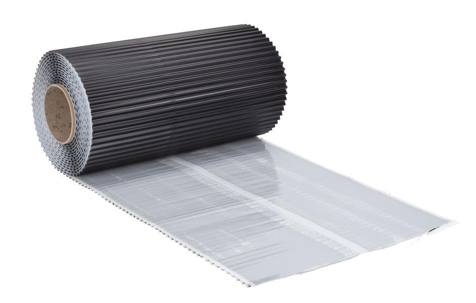 Prima WK-ALU-FLEX 300mm x 5m plissiert schwarz